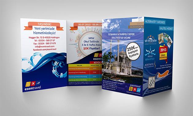 Otel Tatil Broşür Tasarımı