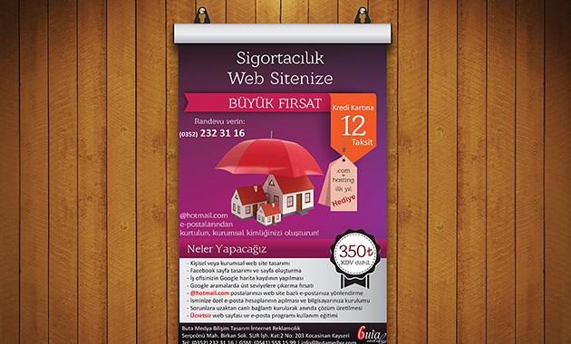 Sigortacılık Poster Tasarımı